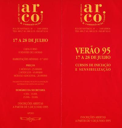 Large a folheto cursos verao 1995