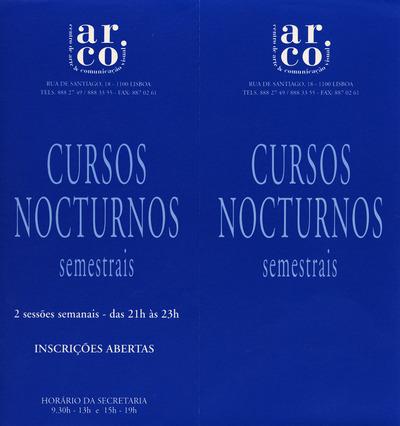 Large a folheto cursos nocturnos 1996