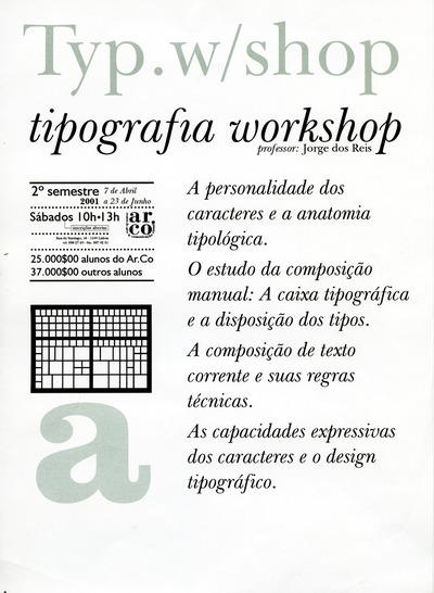 Large a work tipografia jorge dos reis 2001