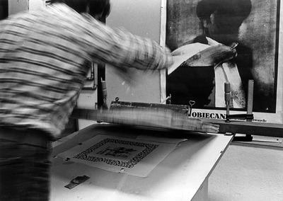 Large serigrafia ant nio inverno 1973