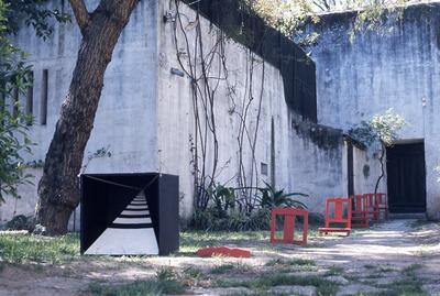 Large forma  o b sica 3d escultura prof gra a costa cabral trabalhos de alunos 1973 74