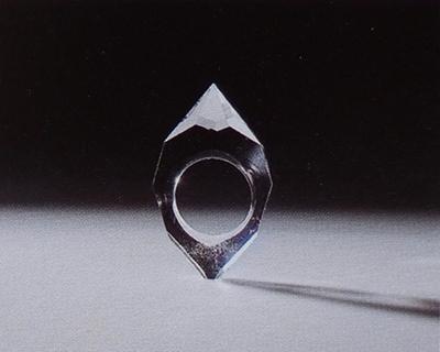 Large tereza seabra anel 1998 cristal de rocha 5 3x3 3cm