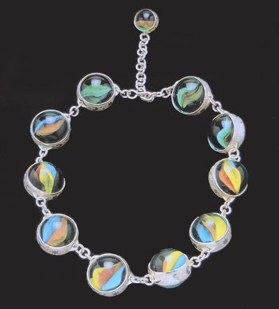 Large susana beir o colar 1998 prata e berlindes 19cm diam