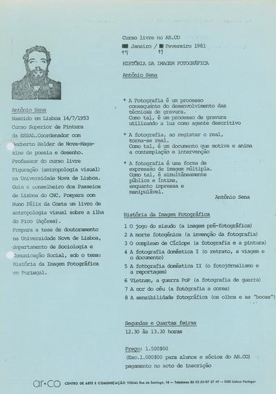 Large curso livre hist ria da imagem fotogr fica ant nio sena 1981
