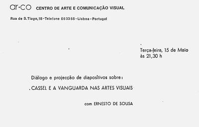 Large projec  o diapositivos ernesto de sousa 1973