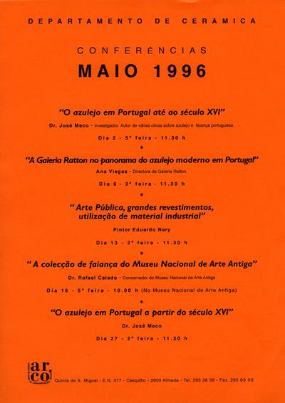 Large a conferancias ceramica maio 1996